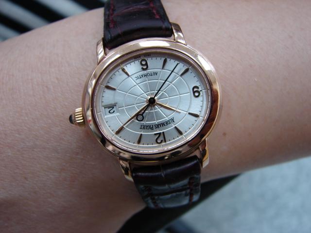 台中 流當品拍賣 原裝 AP MILLENARY 千禧 18K玫瑰金 自動 女錶 9成新 喜歡價可議