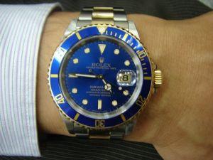 台中 流當品拍賣 原裝 ROLEX 勞力士 16613 藍水鬼 男錶 9成5新 喜歡價可議