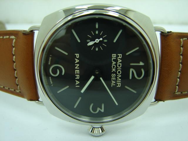 台中 流當品拍賣 原裝 PANERAI 沛納海 PAM183 手上鍊不銹鋼簍空 男錶 9成5新 喜歡價可議