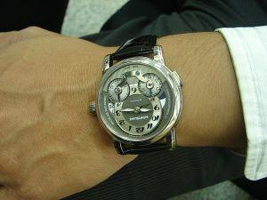 台中 流當品 新款 原裝 Montblanc 萬寶龍 GMT 計時 自製機芯 男錶 9成5新 喜歡價可議