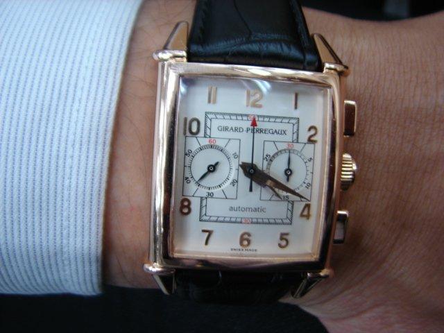 台中 流當品拍賣 GP 芝柏 Vintage 計時18K 玫瑰金 自動 男錶 喜歡價可議