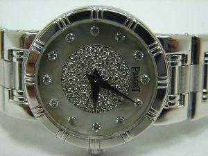 台中 流當品拍賣 原裝 PIAGET 伯爵 DANCER 貝殼小滿天星 石英 18K金 女錶
