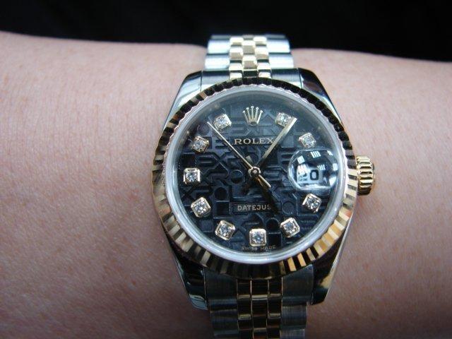 台中 流當品拍賣 原裝 新款勞力士 179173 十鑽包台 紀念面盤 女錶 附盒單 9成9新 喜歡價可議