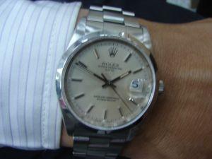 台中流當品拍賣 流當手錶 原裝 勞力士 15200 自動 男錶 9成5新 附盒單