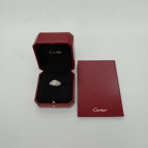 台中當舖流當品拍賣 真品 CARTIER 卡地亞 豹頭 滿鑽 鑽戒 54號 盒單齊全 喜歡價可議 KC001