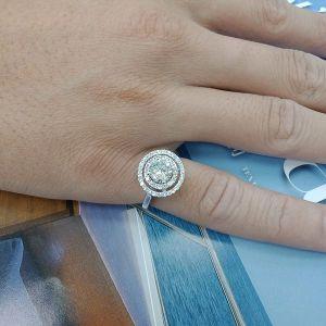 台中流當品拍賣 流當鑽石 豪華 1.01克拉 G色 K金 女鑽戒 喜歡價可議 KS005