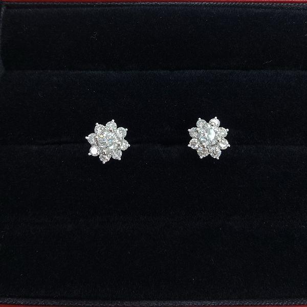 台中流當品拍賣 流當鑽石 豪華 35分 G色 K金 鑽石耳環 壹對 喜歡價可議 KS014